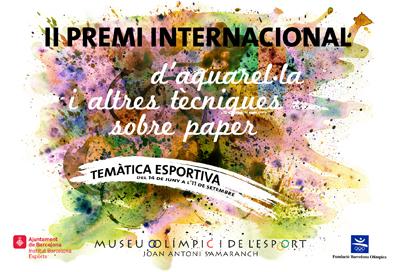 Exposició temporal de les obres finalistes i guanyadores del II Premi Internacional d'Aquarel·la i altres Tècniques sobre paper. Temàtica esportiva.
