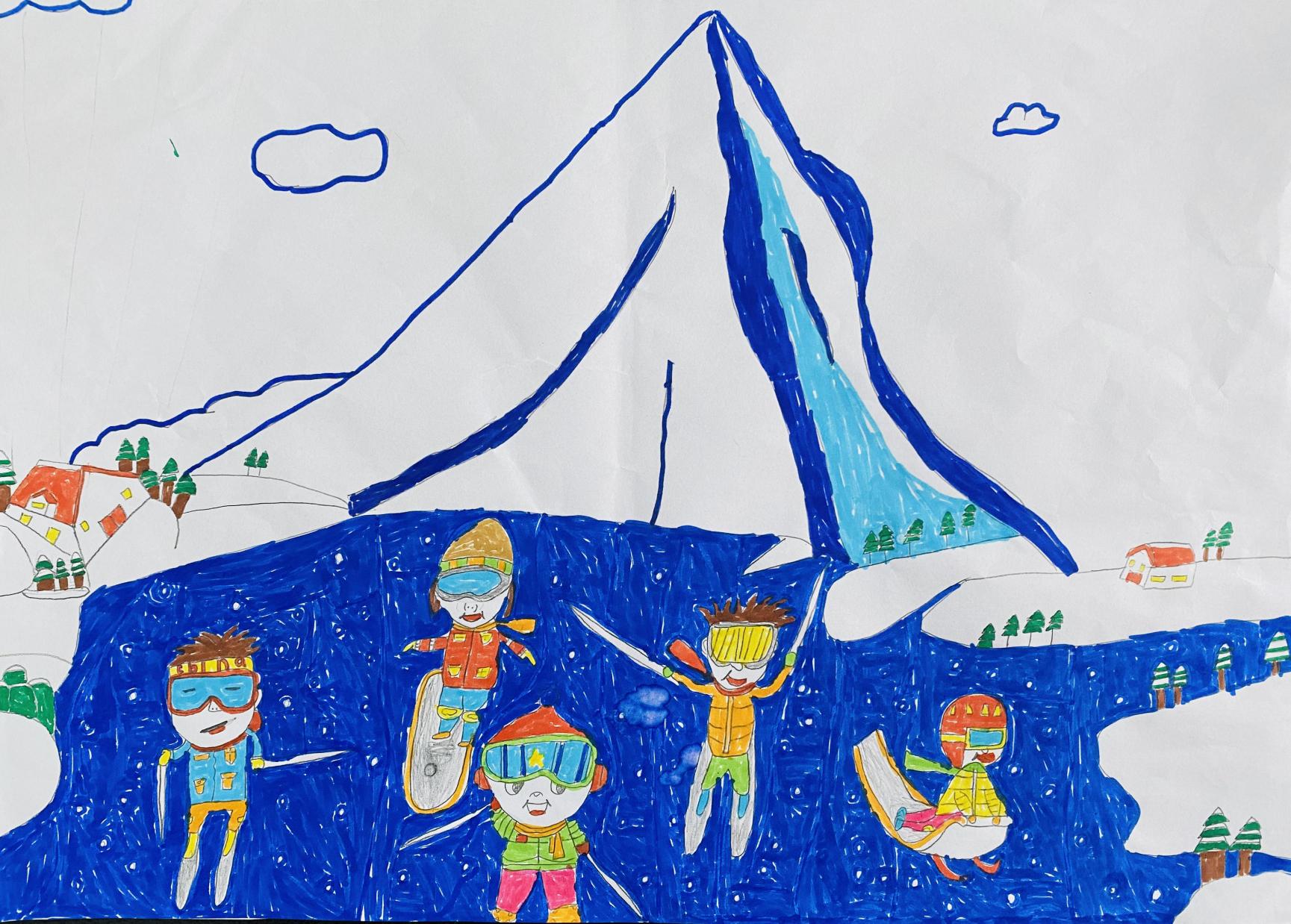 《一起滑雪吧!》 Let's Ski Together!+王浩瑞 Wang Haorui+8+18689898665