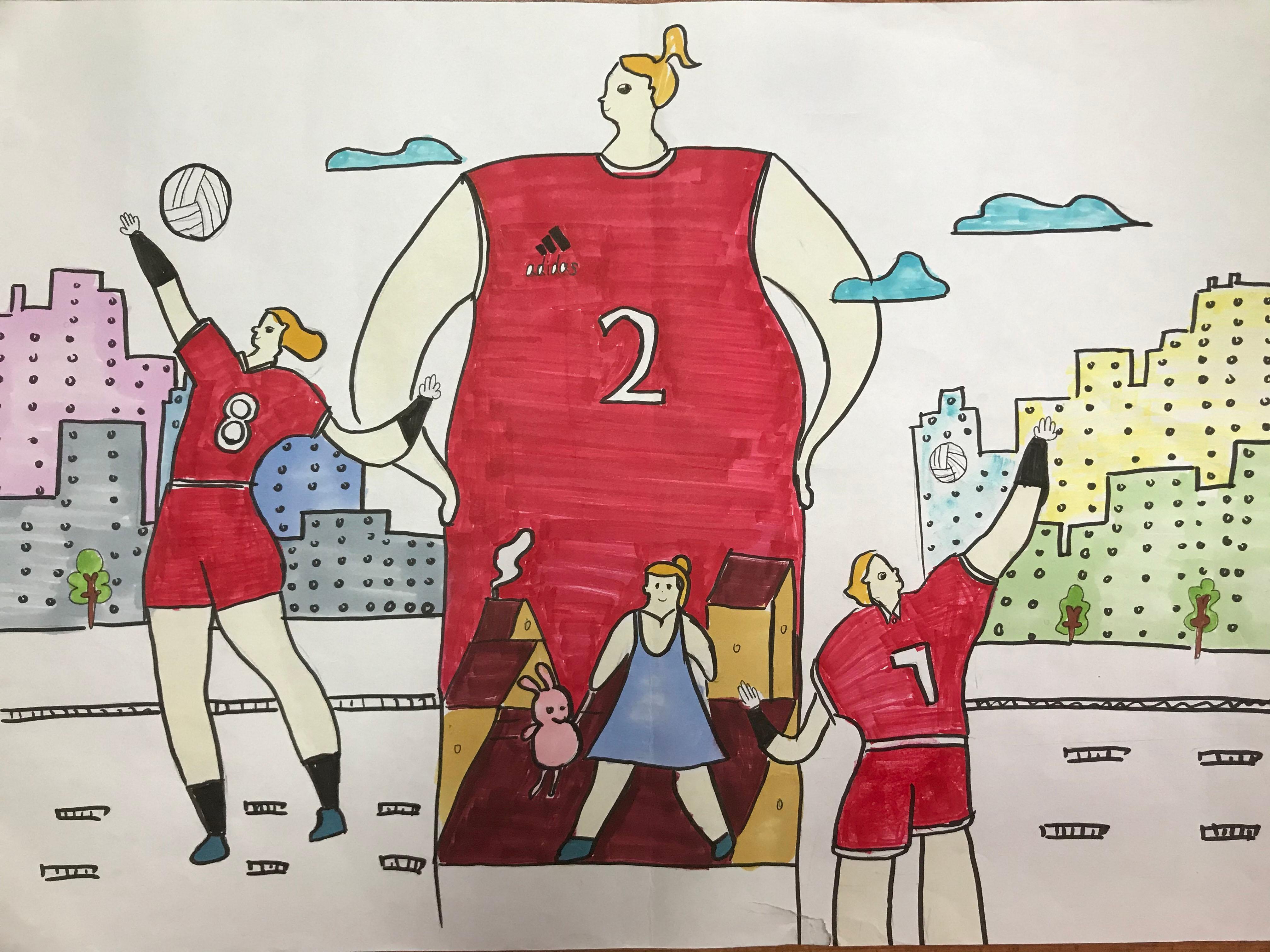 女排精神 Spirit Of Chinese Women Volleyball Team+张诗彤Zhang Shitong+12+15333118588