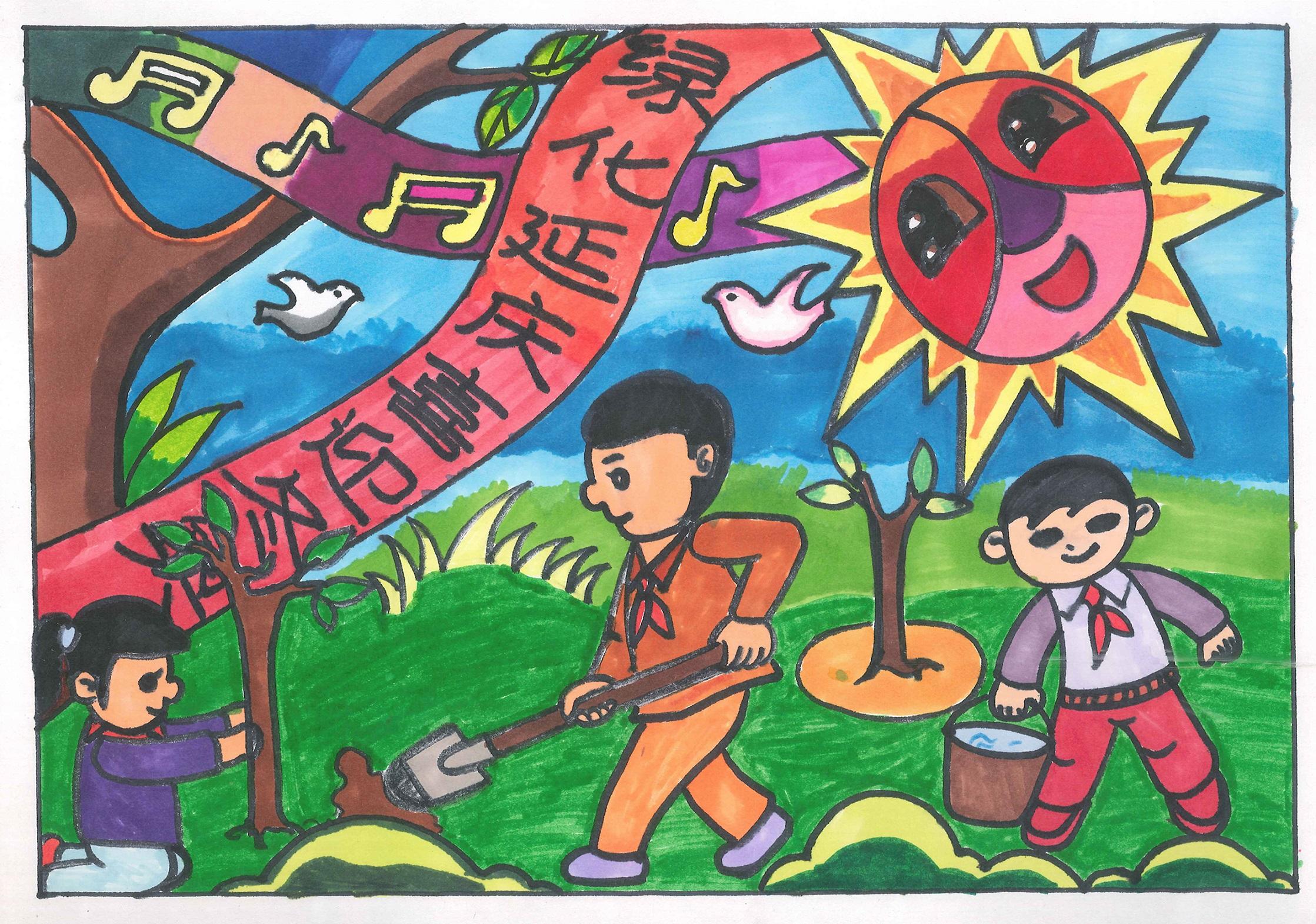 绿化延庆 喜迎冬奥 Green Yanqing Welcomes The Winter Olympics+杨晏涛 Yang Yantao