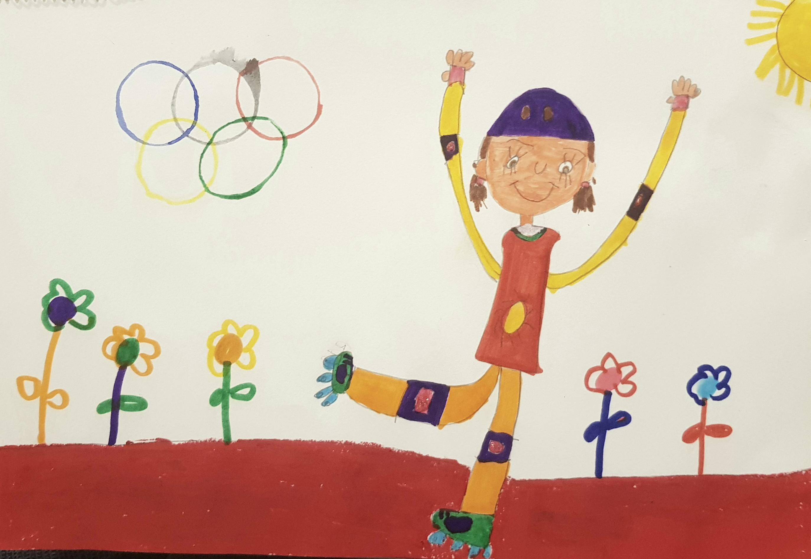 Soy Feliz Con Mis Patines En Las Olimpiadas(我喜欢奥运会的溜冰鞋)+Violetta López Peña+6 Años+617745599